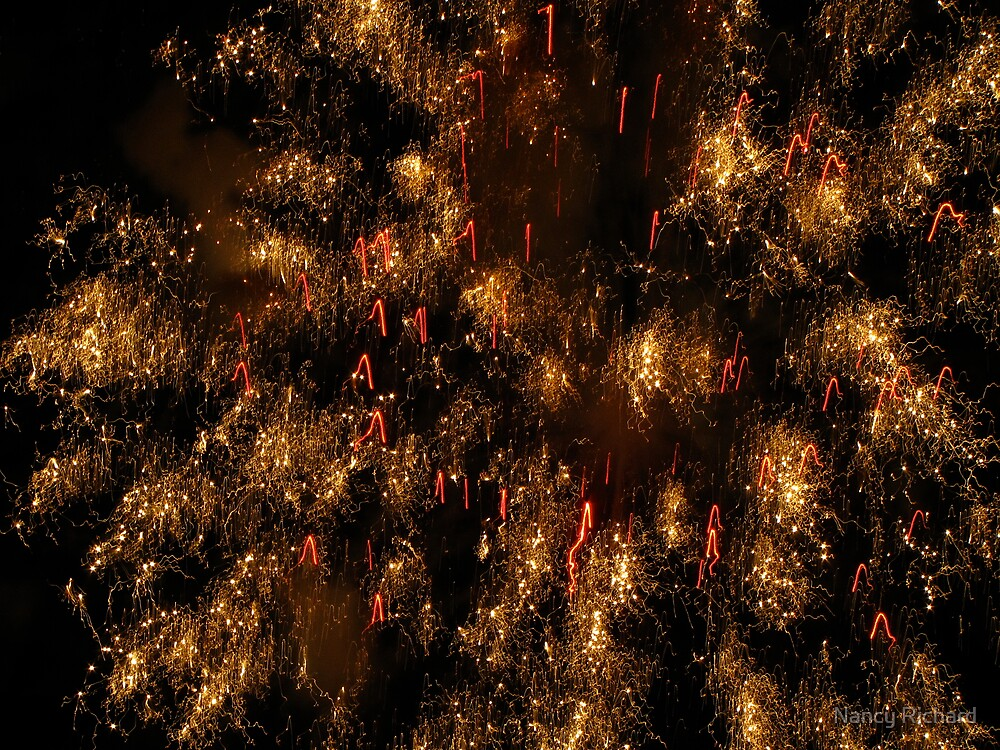 Galaxy fireworks by Nancy Richard