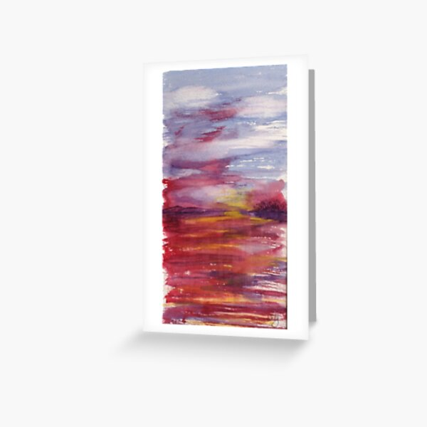 Ruby Water Greeting Card