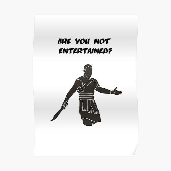 Films - Gladiator - ne vous amusez pas - la lumière Poster