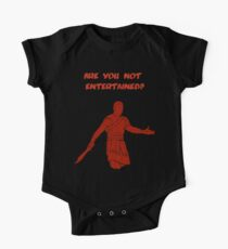 Movies - Gladiator - are you not entertained - dark One Piece - Short Sleeve