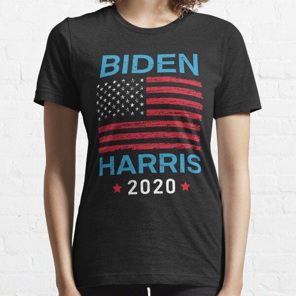Biden Harris 2020 President Election Democrat Vote Retro Vintage US Flag Design Essential T-Shirt