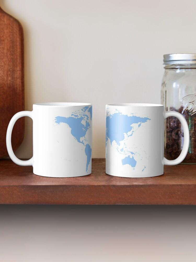 Alternate view of World Map. I love Travel Mug