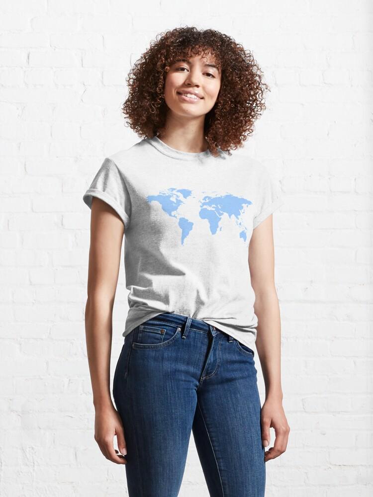 Alternate view of World Map. I love Travel Classic T-Shirt