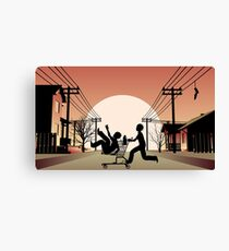 Sunset Suburban Canvas Print