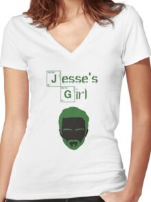 Jesse's Girl Women's Fitted V-Neck T-Shirt
