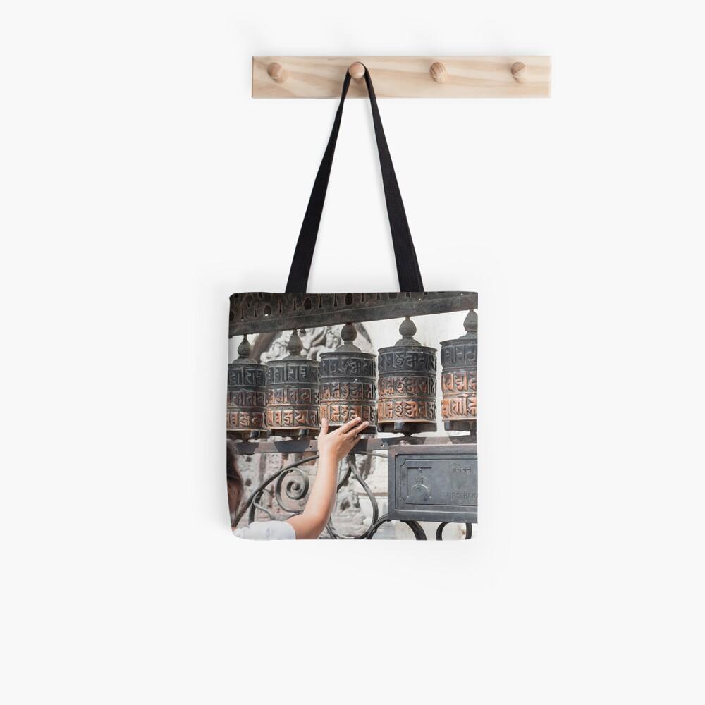 Prayer wheel Tote Bag