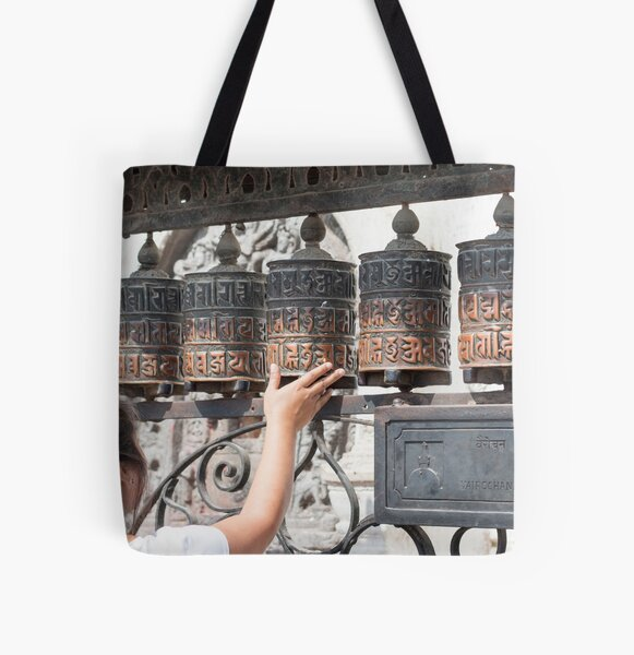 Prayer wheel All Over Print Tote Bag
