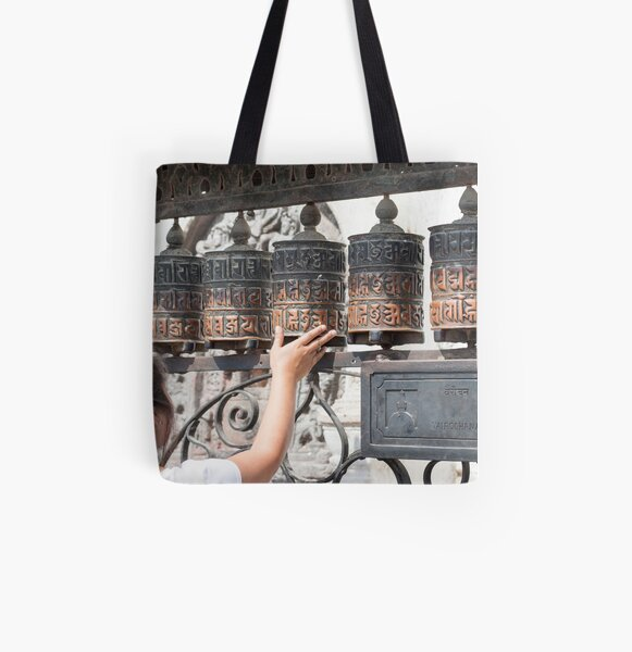 Prayer wheel All Over Print Tote Bag