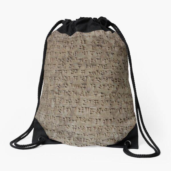 design, decoration, motif, marking, ornament, ornamentation, system, order, arrangement, form Drawstring Bag