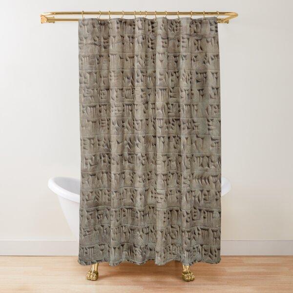 design, decoration, motif, marking, ornament, ornamentation, system, order, arrangement, form Shower Curtain