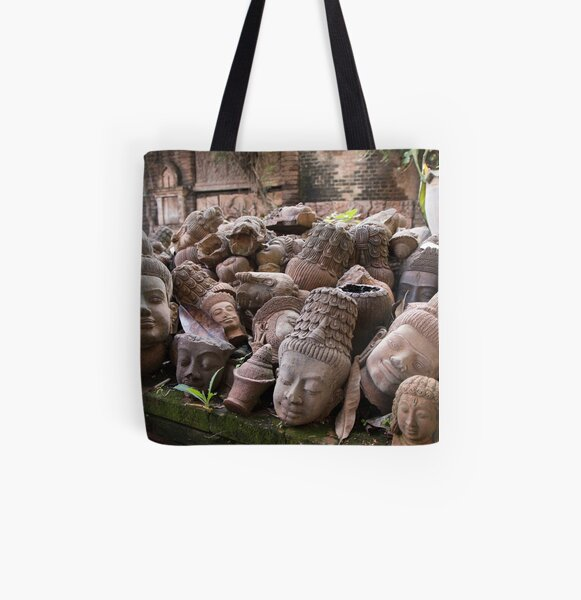 Lost Heads in the Terracotta Museum in Chiang Mai All Over Print Tote Bag