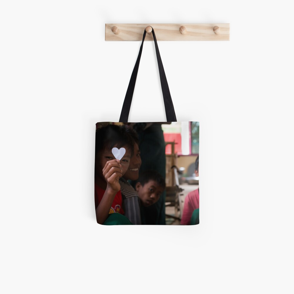 Lovely Boy in Myanmar Tote Bag