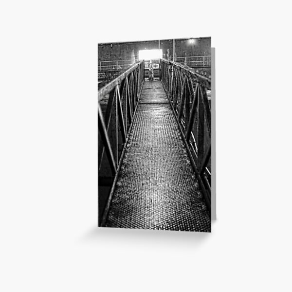 Industrial Bridge Greeting Card