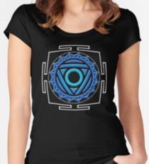 CHAKRA_6th_MANTRA_2014 Women's Fitted Scoop T-Shirt
