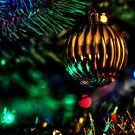 Christmas tree bauble and lights by SteveHphotos