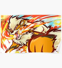 Arcanine | Fire Fang Poster