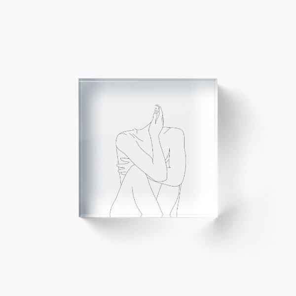 Nude figure illustration - Celina Acrylic Block