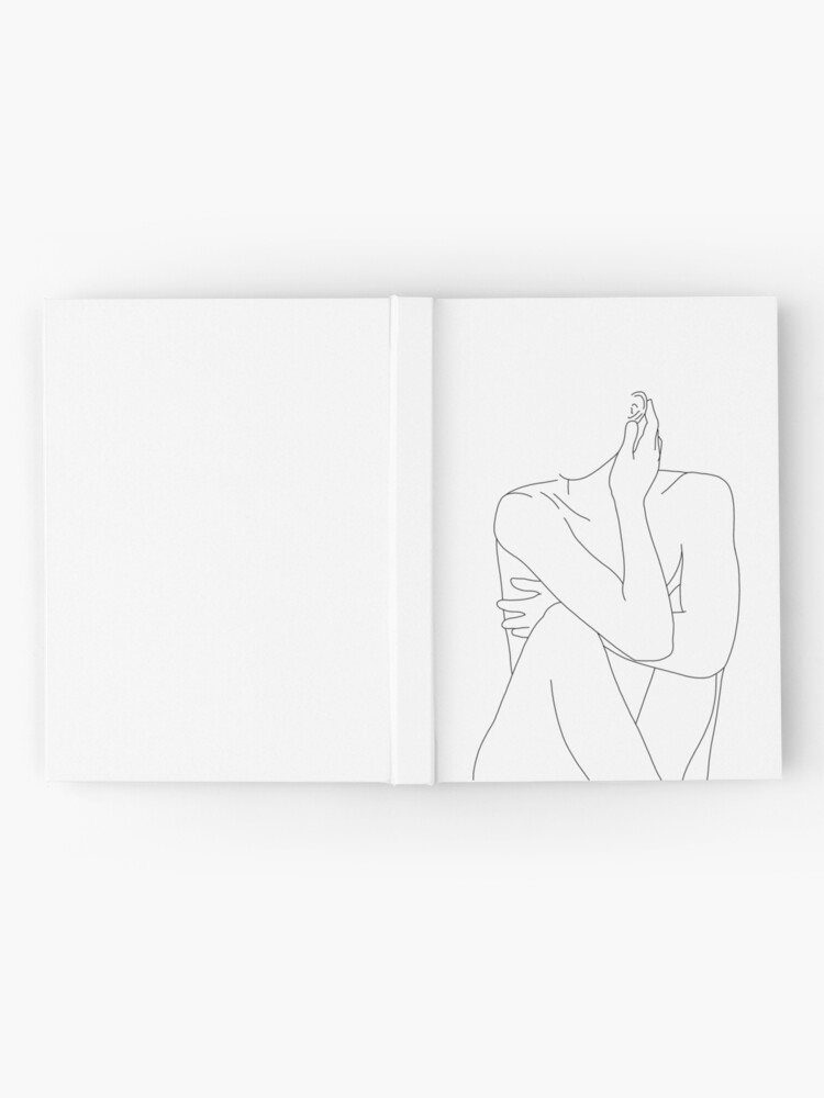 Alternate view of Nude figure illustration - Celina Hardcover Journal