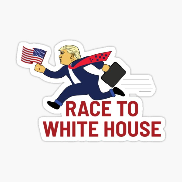 Vote for Trump : Race to white house Sticker