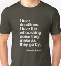 Douglas Adams Deadline Lover T-Shirt