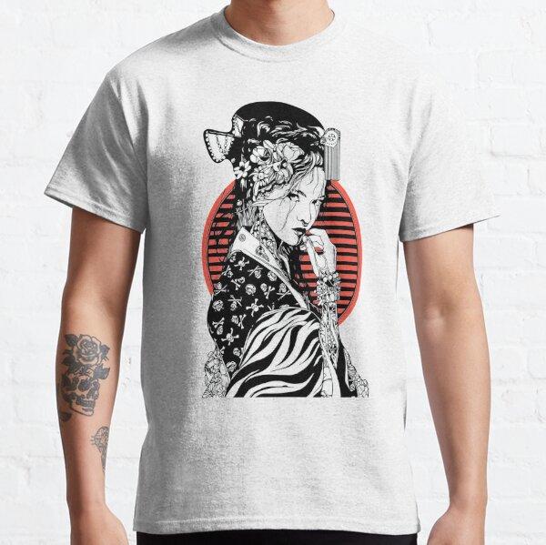 Dessin de geisha japonais T-shirt classique