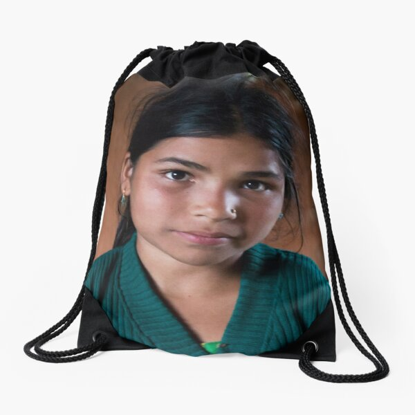 Girl in Thulasain Drawstring Bag