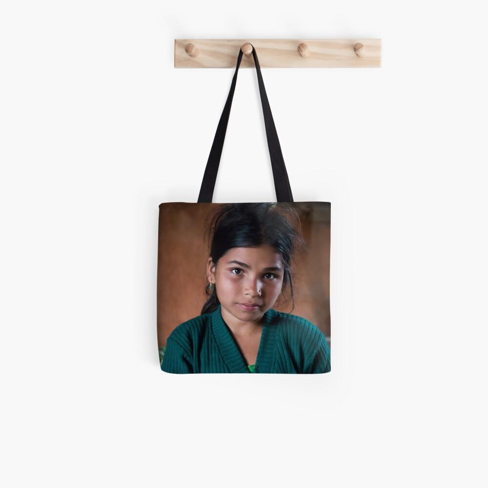 Girl in Thulasain Tote Bag