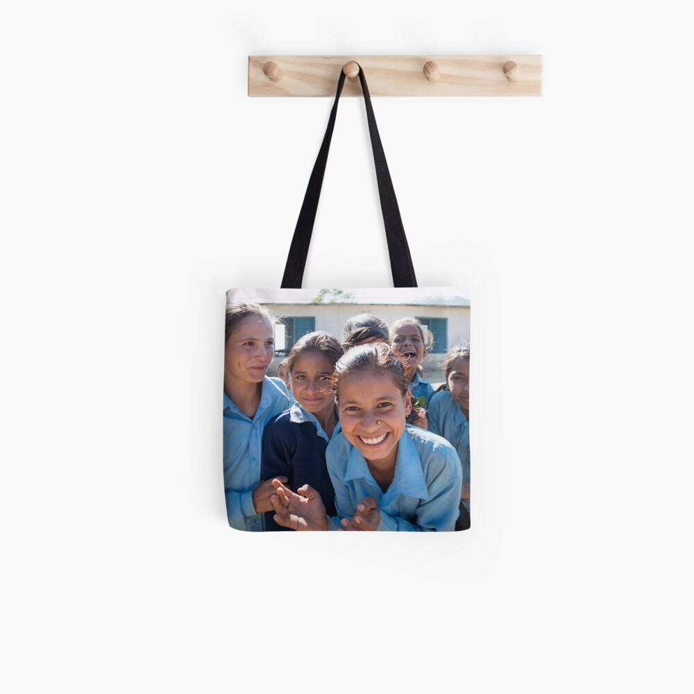 Girls In Tesinge - Far-west Nepal Tote Bag