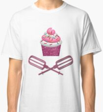 Cupcake & Crossed Beaters In Pink Classic T-Shirt