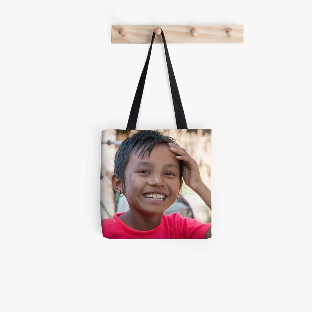 Happy girl in Myanmar Tote Bag