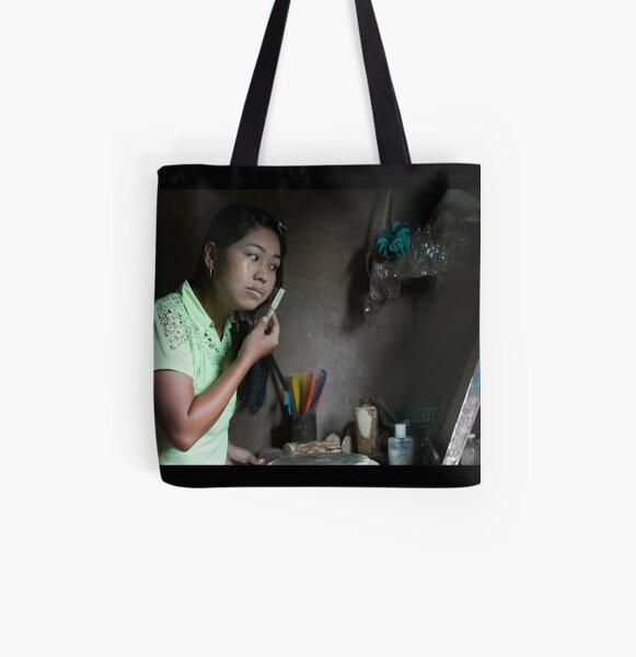 Each Morning ritual in every Myanmar House: Thanaka! All Over Print Tote Bag