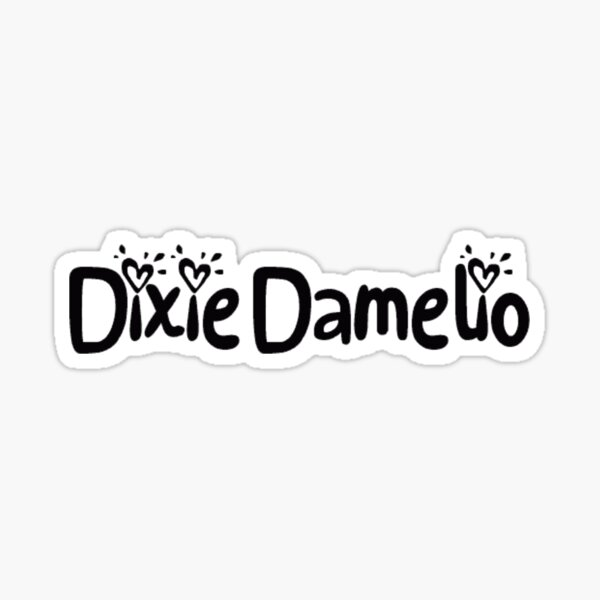 Police de Caractères Dixie Damelio Justice Sticker