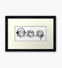 Hear Evil, See Evil, Speak Evil Framed Print