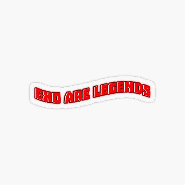 EXO ARE LEGENDS Transparent Sticker
