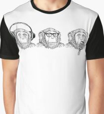 Hear Evil, See Evil, Speak Evil Graphic T-Shirt