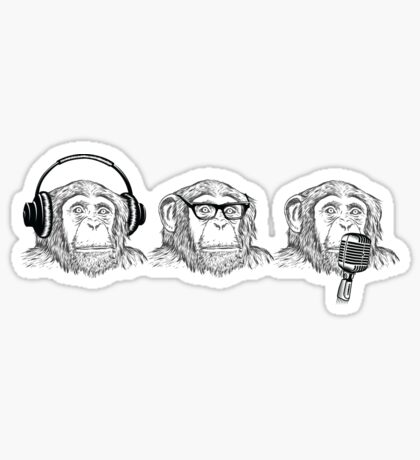Hear Evil, See Evil, Speak Evil Sticker
