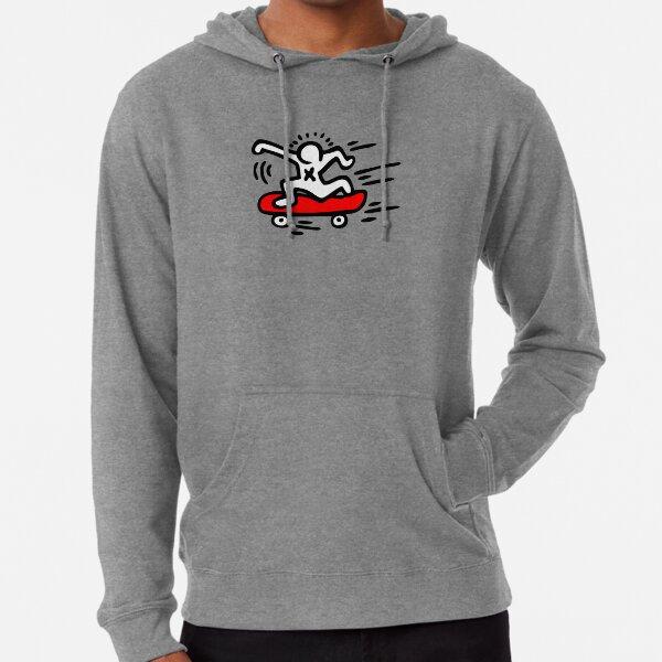 Keith Haring - Skate Lover/ 1988 / Talking Heads / Abstract / Pop Art Lightweight Hoodie