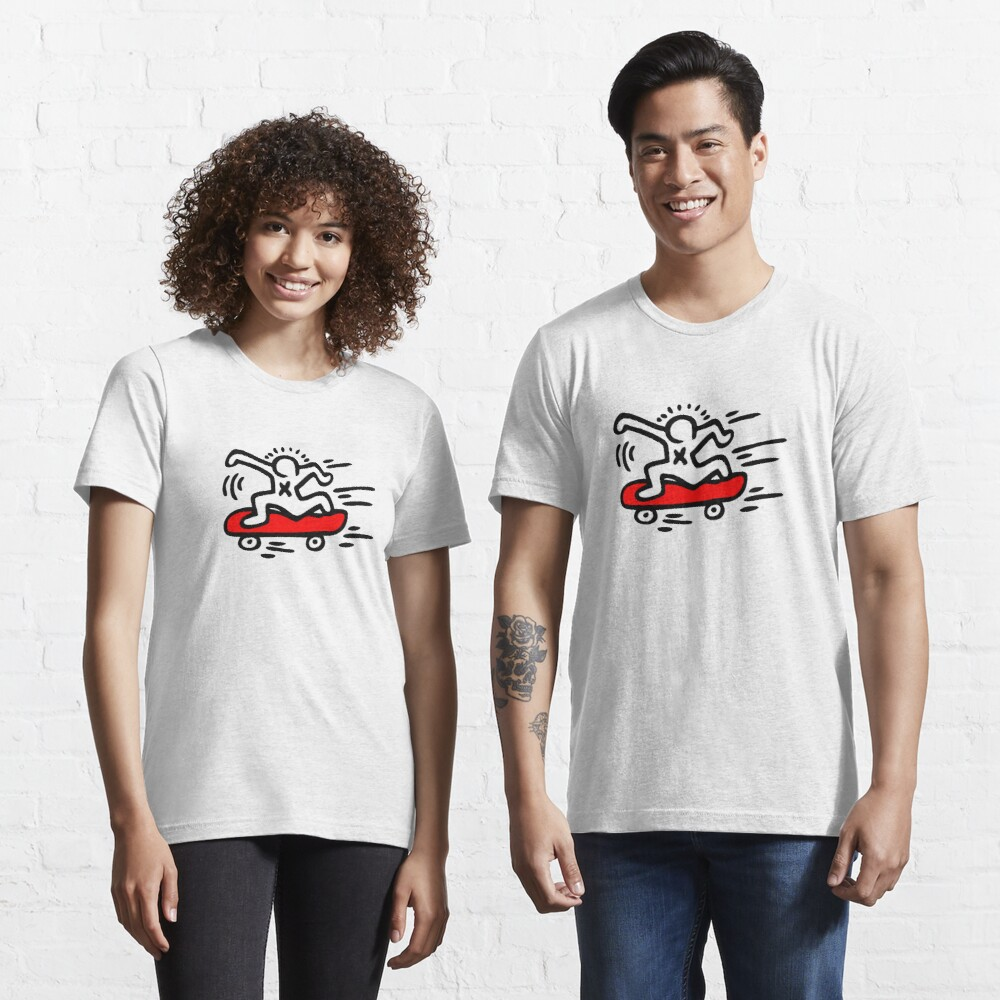 Keith Haring - Skate Lover/ 1988 / Talking Heads / Abstract / Pop Art Essential T-Shirt