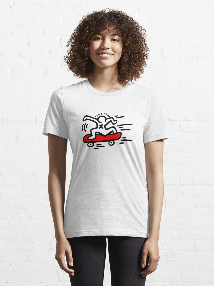 Alternate view of Keith Haring - Skate Lover/ 1988 / Talking Heads / Abstract / Pop Art Essential T-Shirt