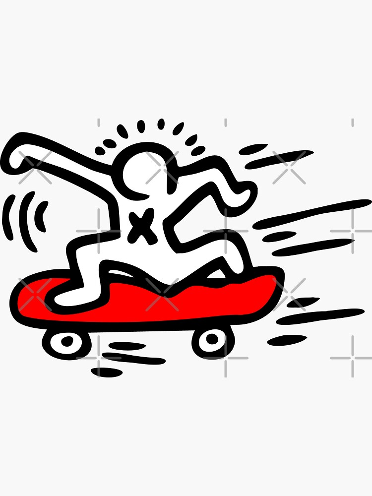 Keith Haring - Skate Lover/ 1988 / Talking Heads / Abstract / Pop Art by Joni77