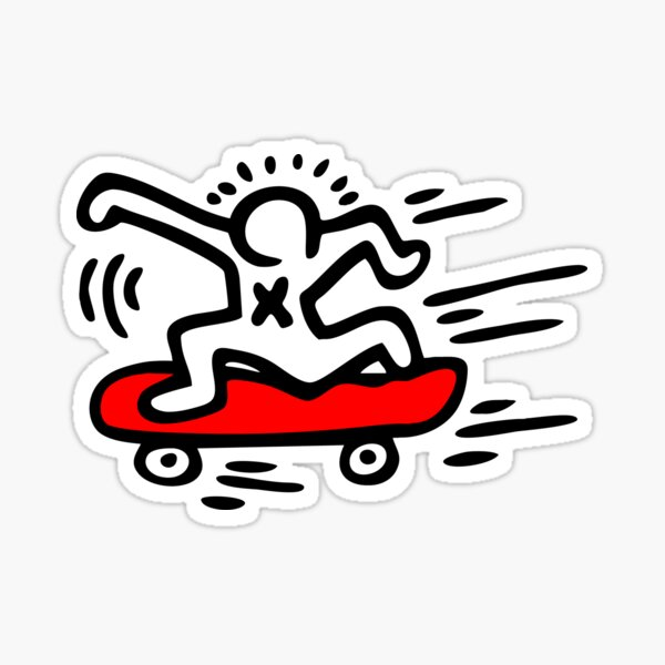 Keith Haring - Skate Lover/ 1988 / Talking Heads / Abstract / Pop Art Sticker