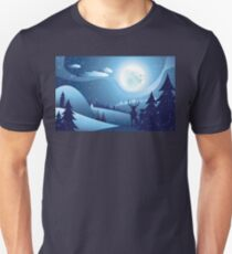 Deers in Winter Forest 2 T-Shirt