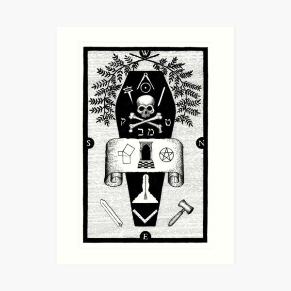 Masonic 3rd degree tracing board by Gemma Gary Art Print