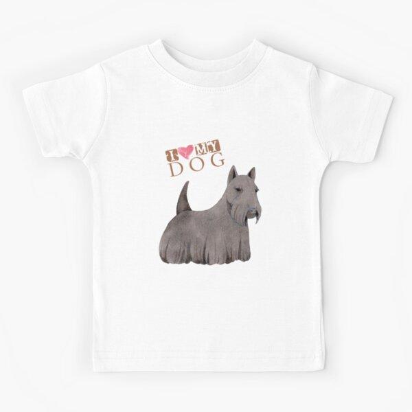 Scottish Terrier I Love My Dog Kids T-Shirt