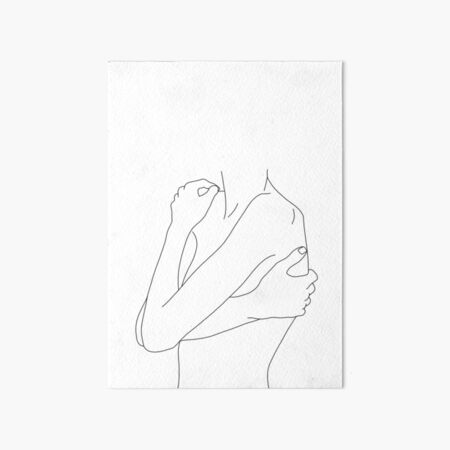 Figure line drawing - Dahl Art Board Print