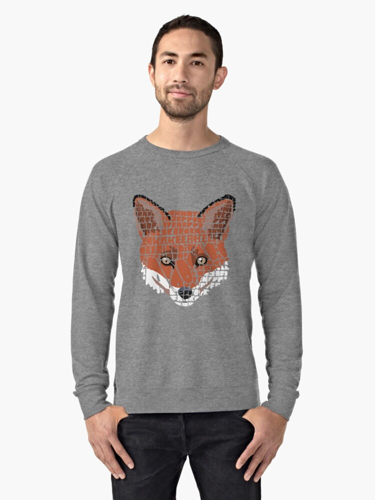 What does the fox say? Lightweight Sweatshirt Front