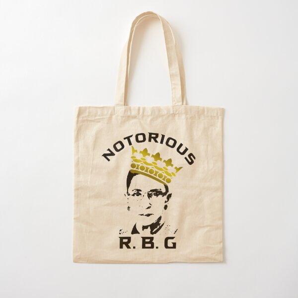 Womens Notorious RBG Tshirt Funny Ruth Bader Ginsburg Cotton Tote Bag