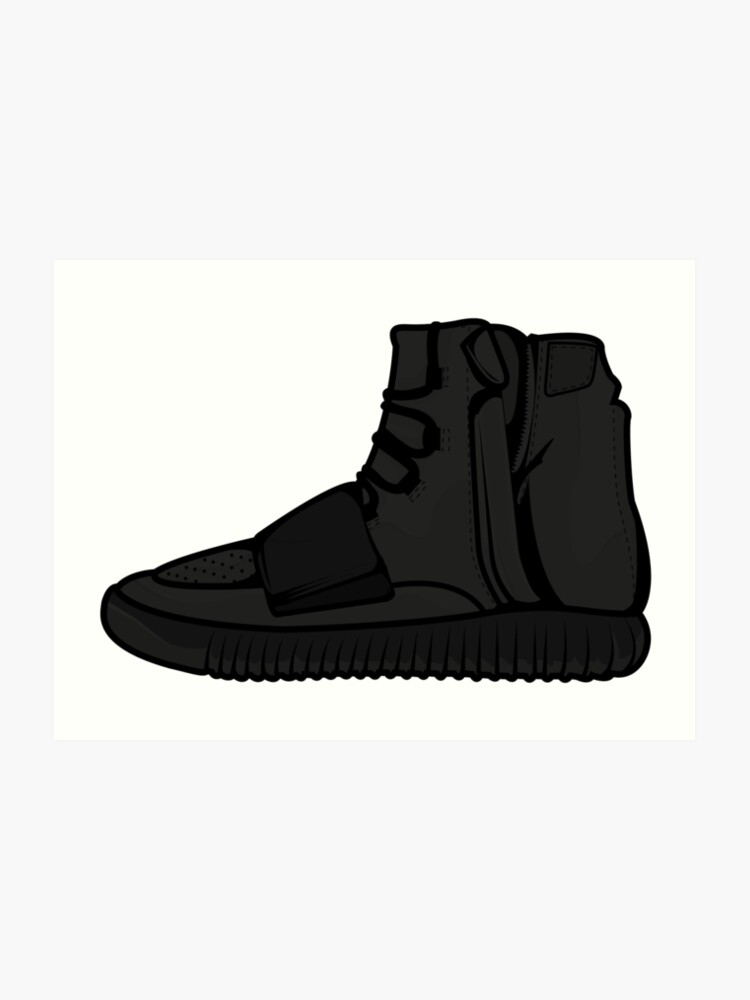 sports shoes f8668 d72d8 Yeezy 750 Boost Black | Art Print