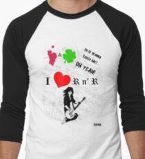 i heart Joan Jett Men's Baseball ¾ T-Shirt