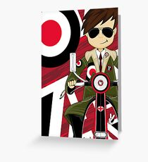Mod on Scooter Greeting Card